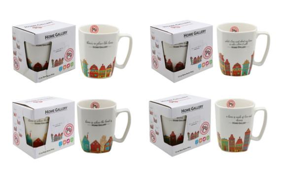 CM12-261 Home Gallery 12oz New bone Mug -Home Series