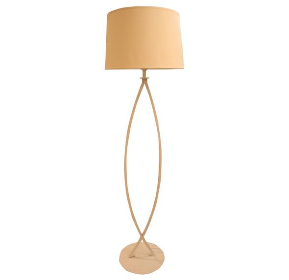 LEUCHTE FLOOR LAMP METAL WHT