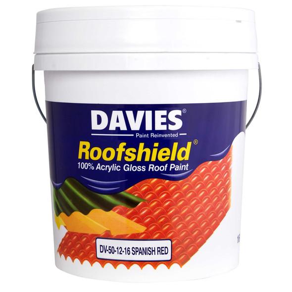 DAVIES DV-50-12-16 ROOFSHIELD GLOSS SPANISH RED 16L