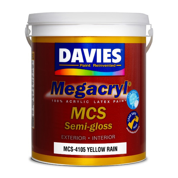 DAVIES MCS-4105 MEGACRYL LATEX SEMI GLOSS YELLOW RAIN 4L