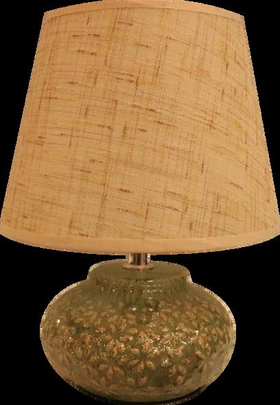 LEUCHTE TABLE LAMP CERA FLORAL GRN S2
