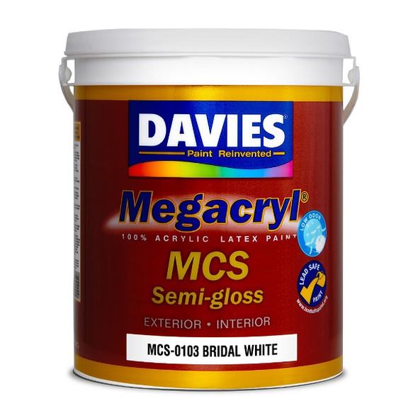 DAVIES MCS-0103 MEGACRYL LATEX SEMI GLOSS BRIDAL WHITE 4L