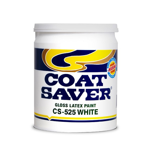 COATSAVER CS-525-1 COAT SAVER LATEX GLOSS WHITE 1L