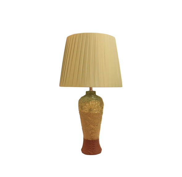 LEUCHTE TABLE LAMP CERA PLEATED GRN SHADE
