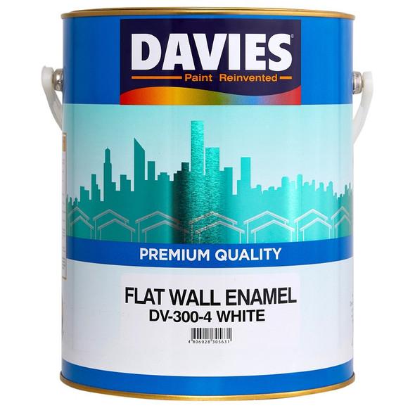DAVIES DV-300-4 FLAT WALL ENAMEL WHITE 4L