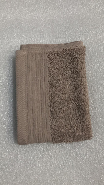 """LINENS N' THINGS Hand Towel Charlotte Collection 12"""" x 24"""" Simply Taupe"""