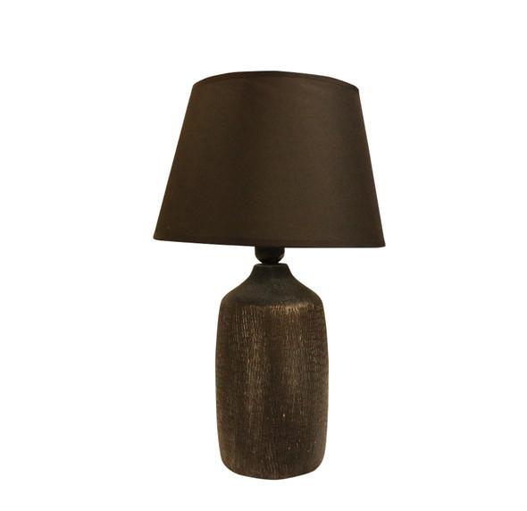LEUCHTE TABLE LAMP CERA WEAVE BLK