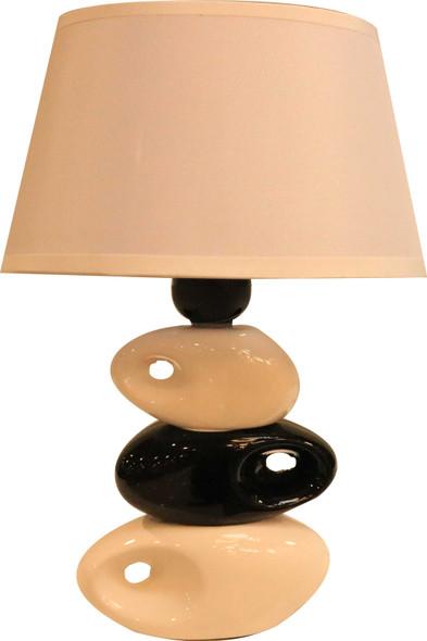 LEUCHTE TABLE LAMP CERA 3 STONE WHOLE WHT