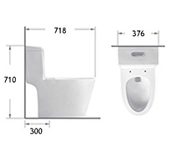 BRAUHN FARICA 6690 ONE-PIECE WATER CLOSET