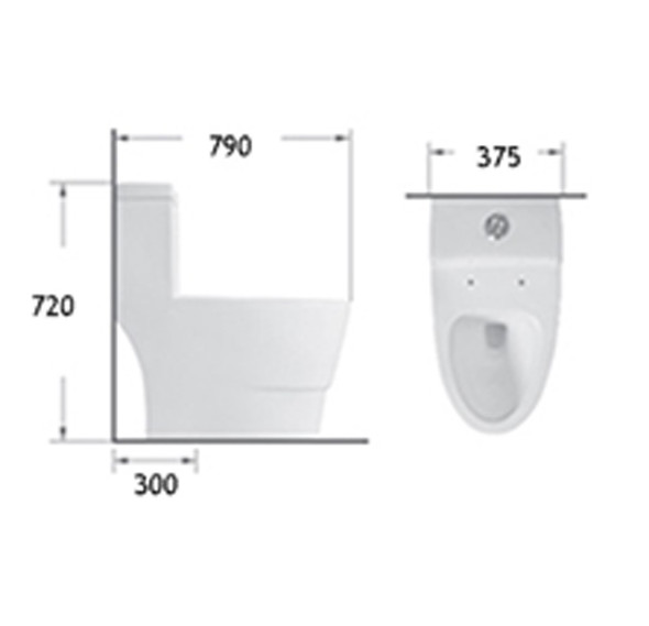 BRAUHN GHISLAINE 6662 ONE-PIECE WATER CLOSET