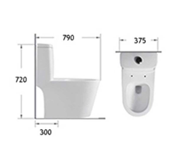 BRAUHN HELENE 6673 ONE-PIECE WATER CLOSET