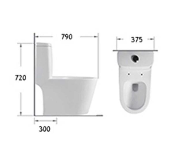 BRAUHN HELENE 6673 ONE-PIECE WATER CLOSET