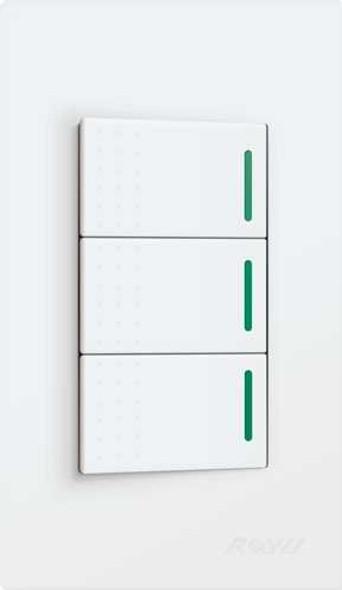 ROYU WD515 WD-SERIES 3GANG ELECTRICAL SWITCH W/REFLECTOR
