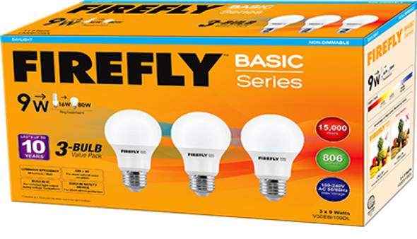 FIREFLY BASIC 3-LED BULB VALUE PACK 8.5W DL