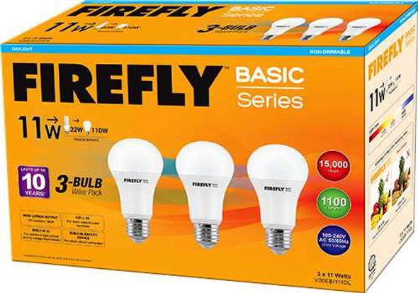 FIREFLY BASIC 3-LED BULB VALUE PACK 11W DL