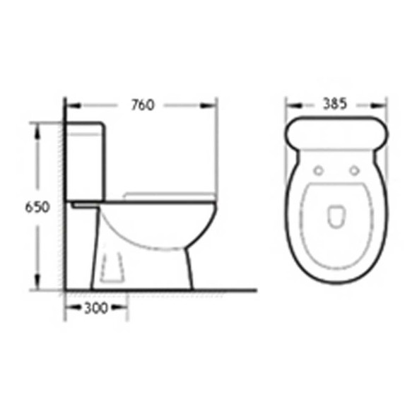 BRAUHN EHRIN JT1301CL CLOSE-COUPLED  WATER CLOSET