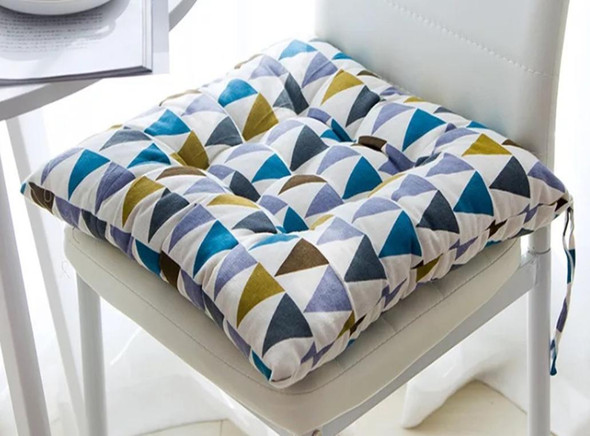 """16""""X16"""" PARTY MULTI COLOR SQUARE CHAIRPAD"""