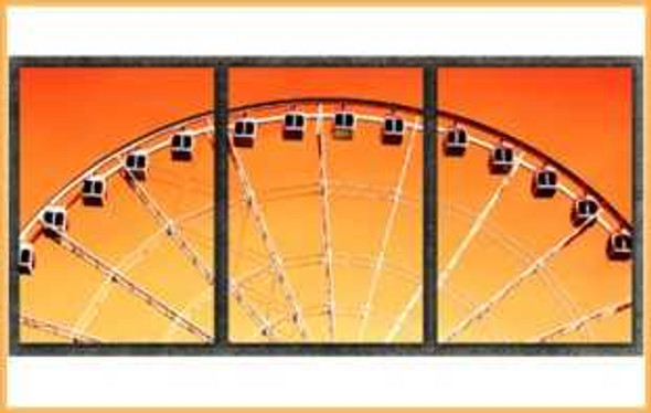 Triptych Wall Art 3IN1 16x24 Old Ferris Wheel