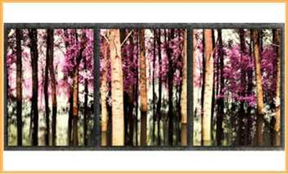 Triptych Wall Art 3IN1 16x24 Purple Forest