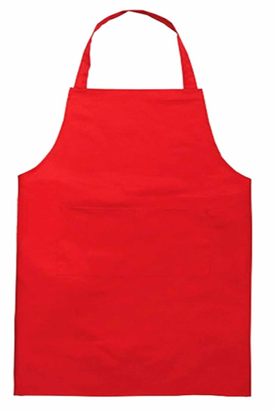 "CASABELLA 20""x34"" SOLID RED APRON"