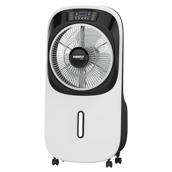 "FIREFLY 645-10"" MIST RECHARGEABLE FAN W/ DIGITAL DISPLAY"