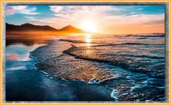 Easyart Canvas 25x38 Foamy Wave Sunset
