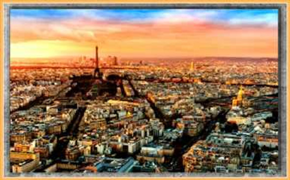 Easyart Canvas 25x38 Paris At Twilight