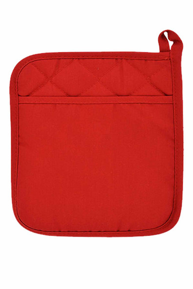 "CASABELLA 1 6.75""x6.75"" SOLID RED-1 POT HOLDER"