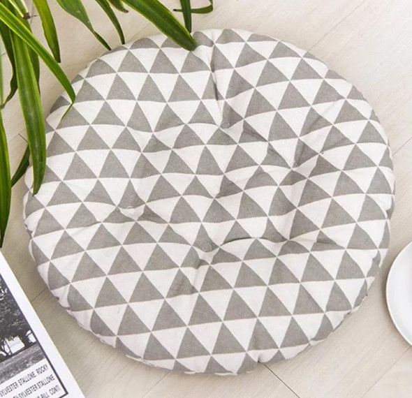 "16""X16"" GREY TRIANGLE ROUND CHAIRPAD"