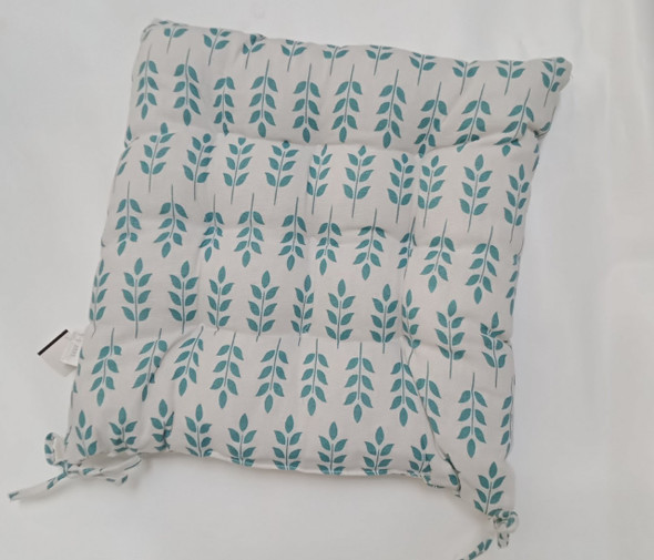 "16""X16"" BLUE LEAVES SQUARE CHAIRPAD"