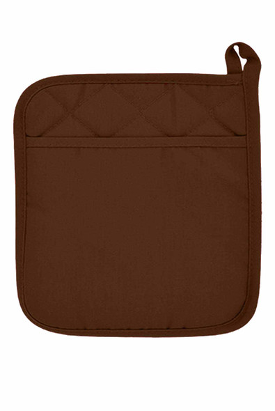 "CASABELLA 6.75""x6.75"" SOLID CHOCO-1 POT HOLDER"