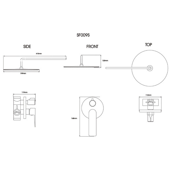BRAUHN ILYSE SF009S CONCEALED MIXING BATH & SHOWER