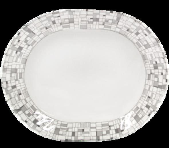"Mosaic 12"" Oval Platter"