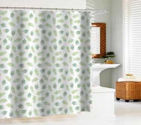 Homethreads Peva Shower Curtain with C-Rings (180x180cm)