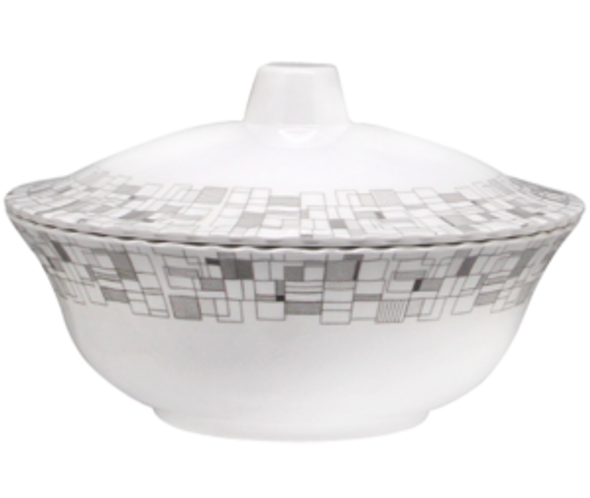 """Mosaic 8"""" Round Bowl with Cover"""