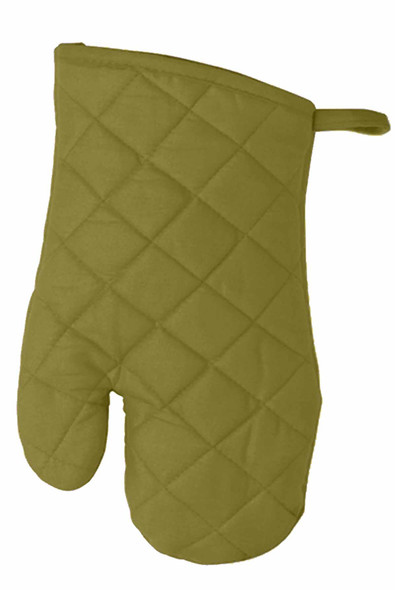 "CASABELLA 10.5""x6.75"" SOLID GREEN OVEN MITTEN"