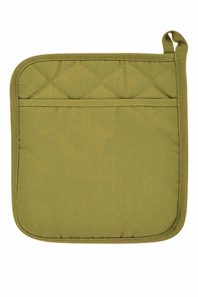 "CASABELLA 6.75""x6.75"" SOLID GREEN-1 POT HOLDER"