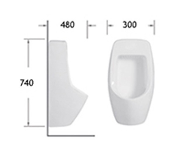 BRAUHN BRUNE 313 WALL HUNG URINAL