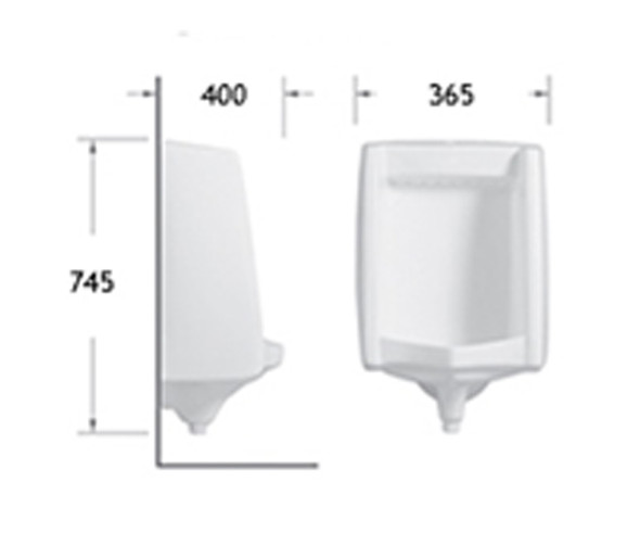 BRAUHN HEDWIG 316 WALL HUNG URINAL