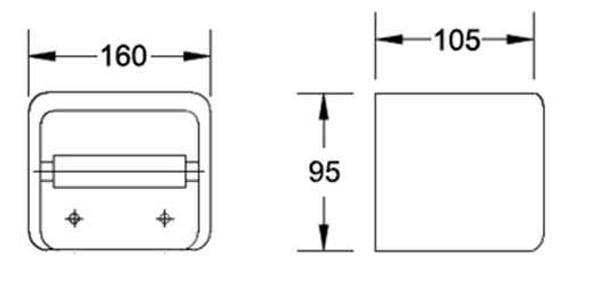 BRAUHN G029-4  CERAMIC TISSUE HOLDER