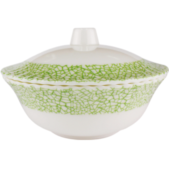 """Jade 8"""" Round Bowl with Cover"""