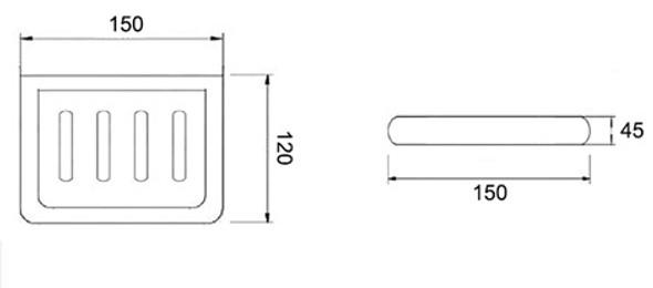 BRAUHN G029-3  CERAMIC SOAP HOLDER