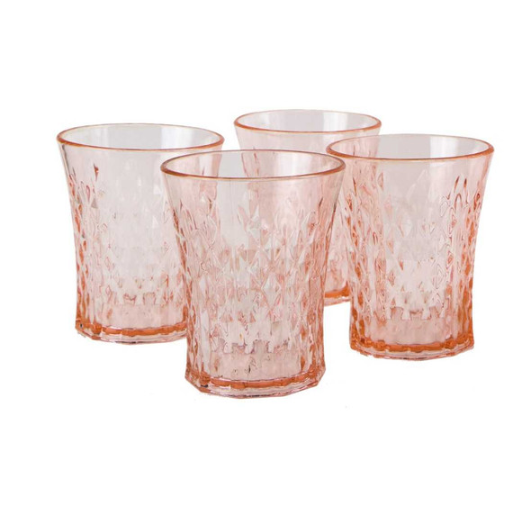 Living Coral 4pcs Tumbler Set in Shrink Pack