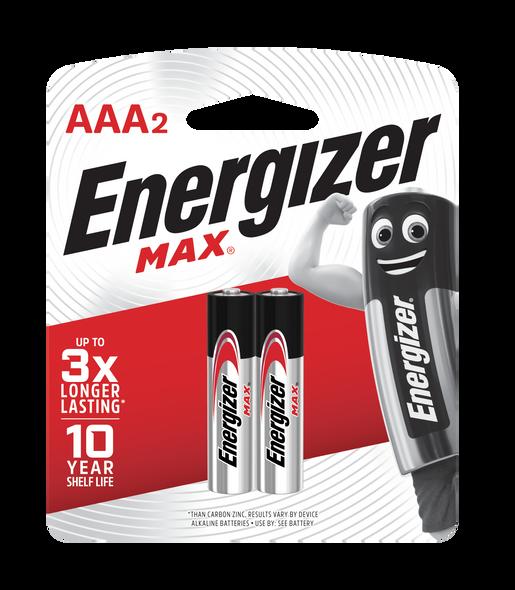 ENERGIZER BATTERY E92BP2 MAX AAA 2S CARBON ZINC