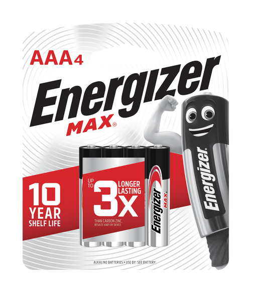 ENERGIZER BATTERY E92BP4 MAX AAA 4S CARBON ZINC