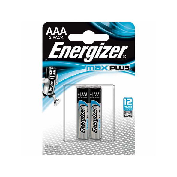 ENERGIZER ALKALINE BATTERY MAX PLUS AAA 2S