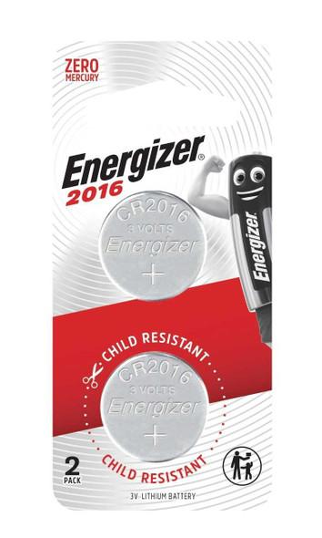 ENERGIZER CR2016BP2 LITHIUM COIN BATTERY 3V