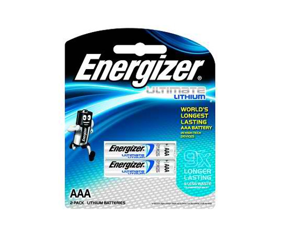ENERGIZER L92BP2 PHOTO LITHIUM BATTERY AAA 2S