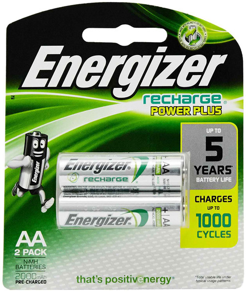 ENERGIZER NH15URP2 POWER PLUS RECHARGEABLE BATTERY AA 2S