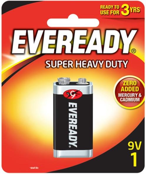 EVEREADY 1222BP1 SUPER HEAVY DUTY BATTERY 9V